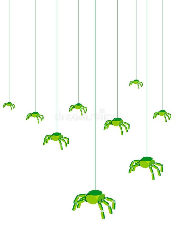 Computer Bugs. Illustration of Computer bug viruses vector illustration