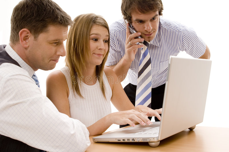 Download Computer Business stock photo. Image of team, confident - 462680