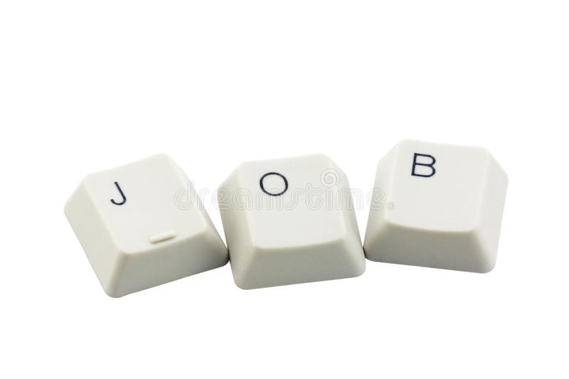 Computer buttons JOB stock images