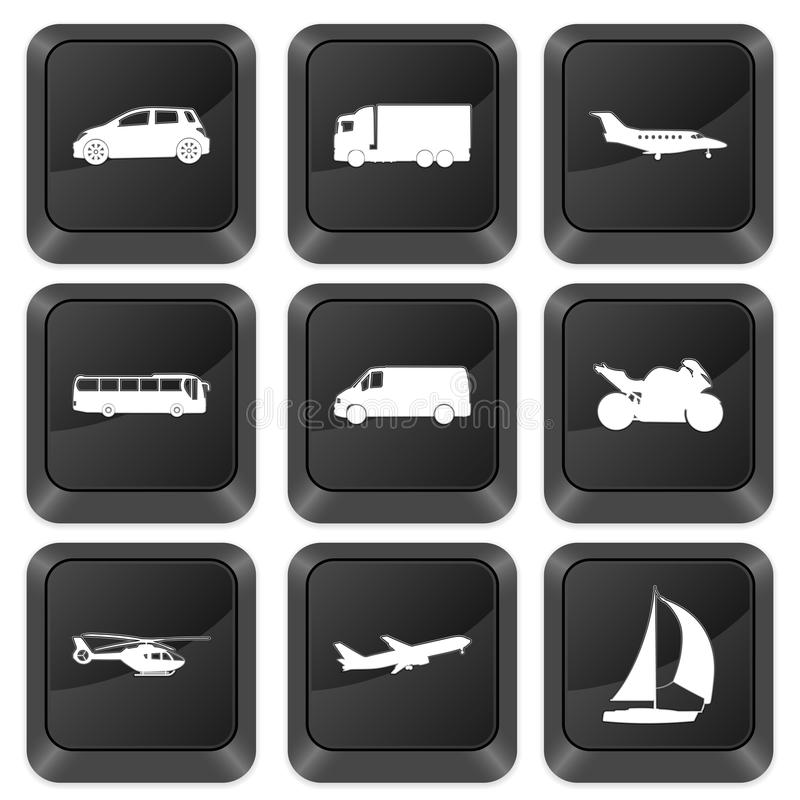 Computer buttons transport vector illustration