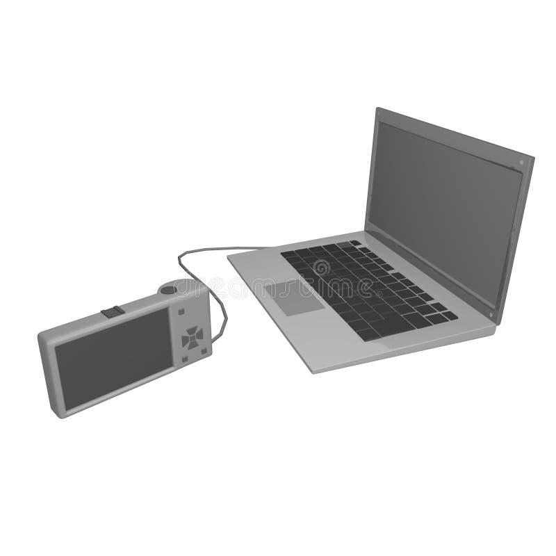 computer&camera ελεύθερη απεικόνιση δικαιώματος