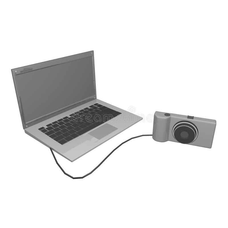 computer&camera απεικόνιση αποθεμάτων