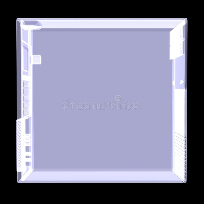 Download Computer Case. X-ray Render Stock Image - Image: 32913583