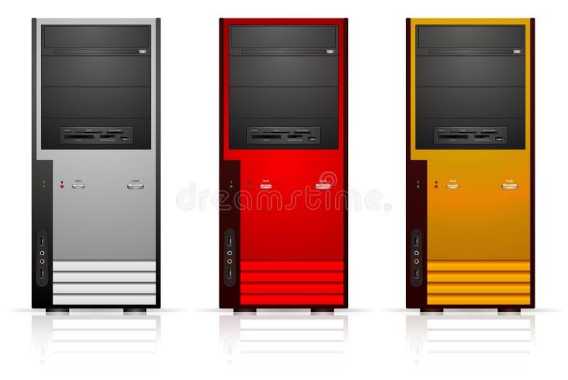 Computer cases stock illustration