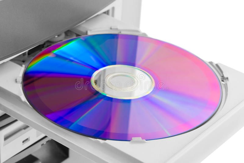 Computer cd-rom. Isolated on white background stock photography