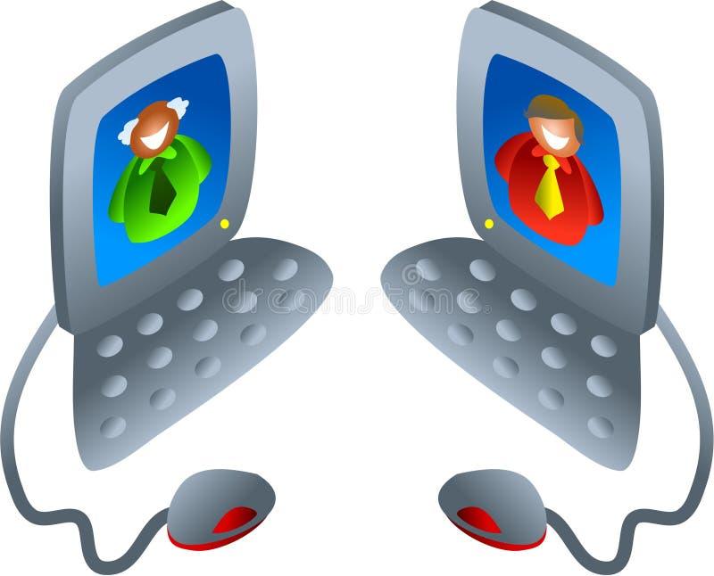 Computer chat vector illustration