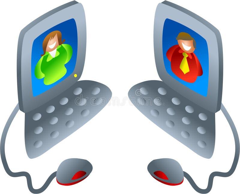 Computer chat stock illustration