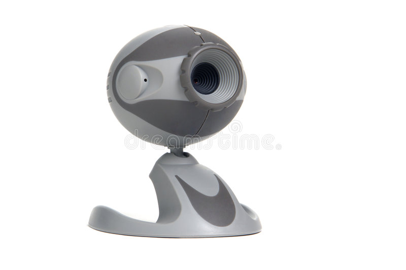 Computer Chat Teleconferencing Web Cam Isolated stock photo