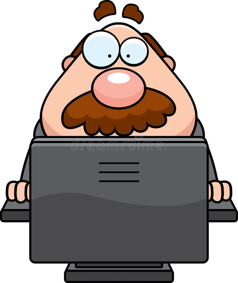 Computer-Chef lizenzfreie abbildung