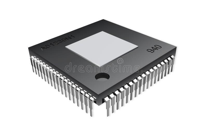 Computer-Chip lizenzfreie abbildung
