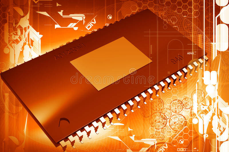 Download Computer chip stock illustration. Image of microchip - 14597907