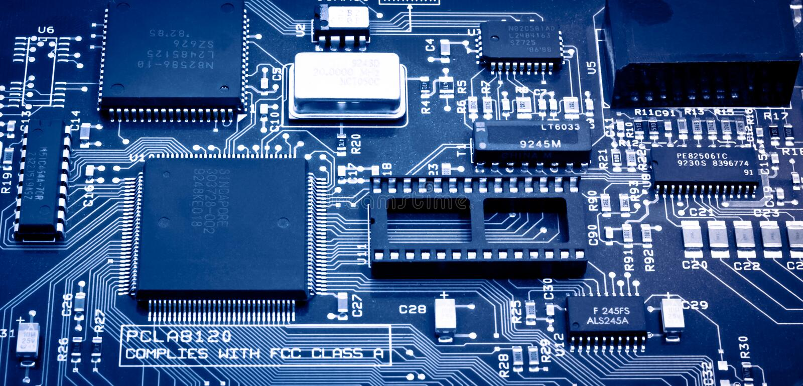 Download Computer chip stock photo. Image of cells, microcircuitry - 16175766