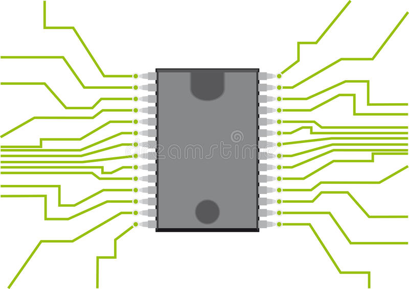 Computer Chip. Illustration of the computer chip vector illustration