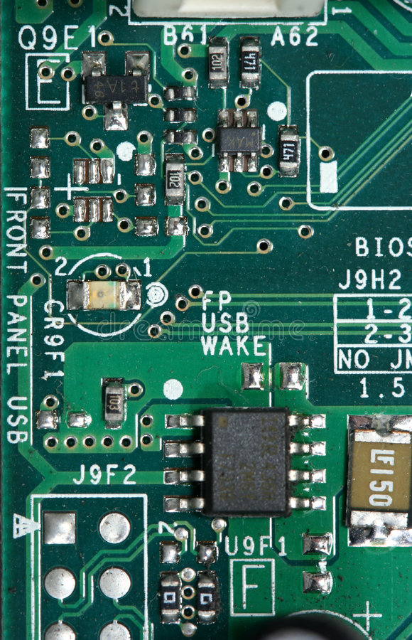 Computer Chip And Circuit Board Royalty Free Stock Photography