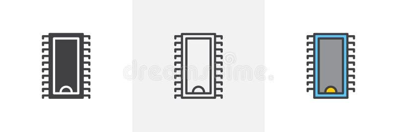 Computer Chip Icon stock abbildung