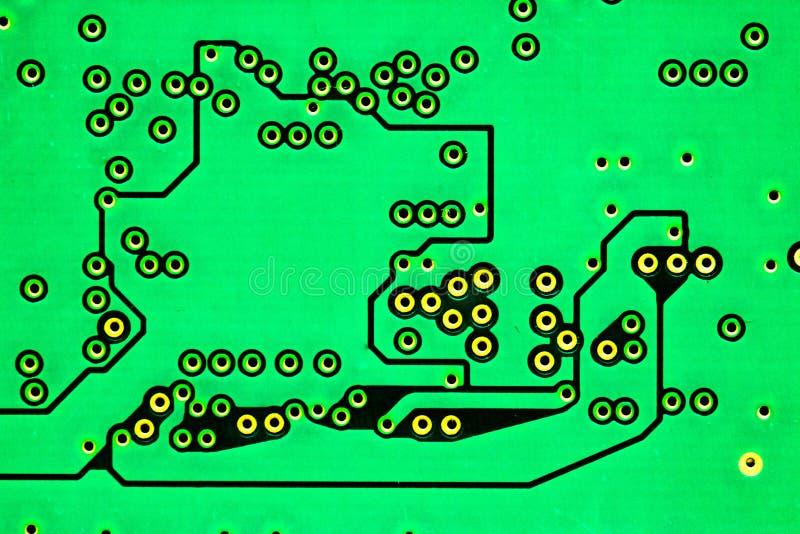 Computer Chip macro, green stock image