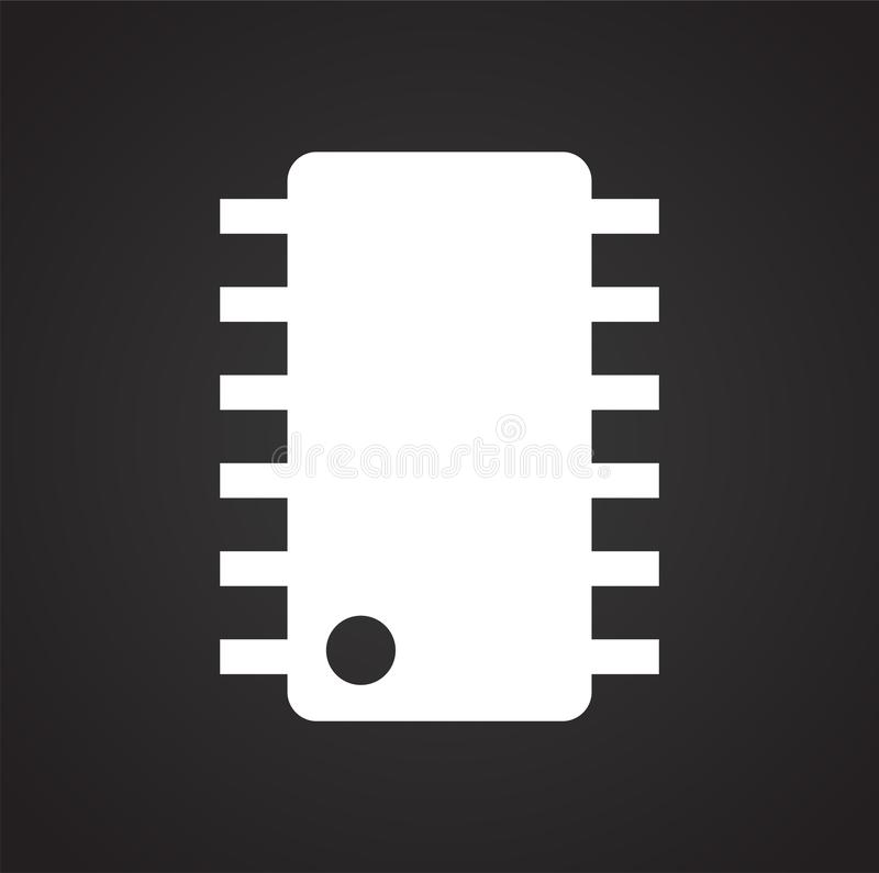 Computer chip related icon on background for graphic and web design. Simple illustration. Internet concept symbol for stock illustration