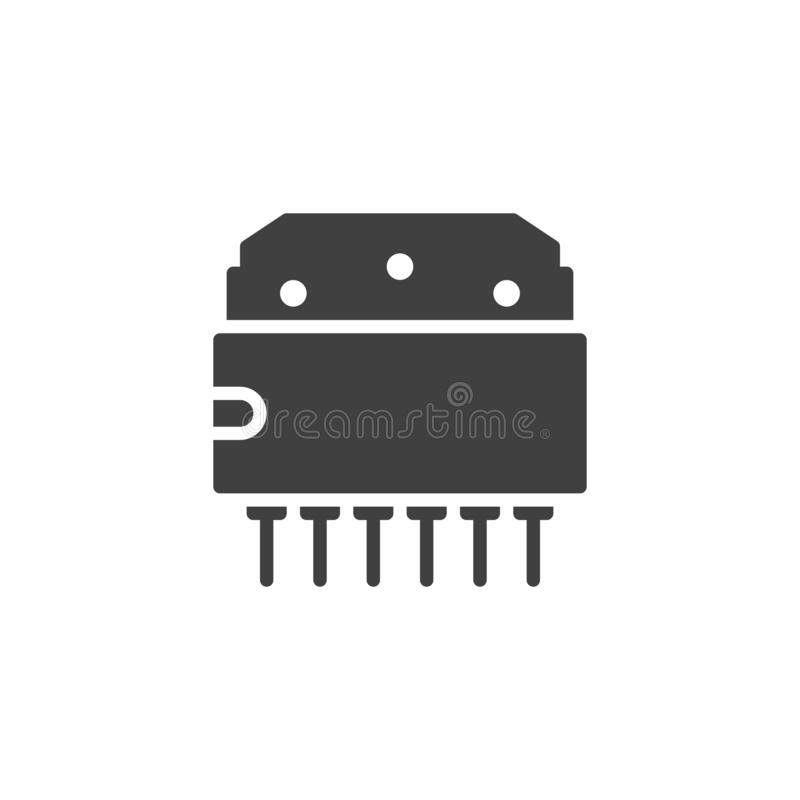 Computer chip vector icon vector illustration