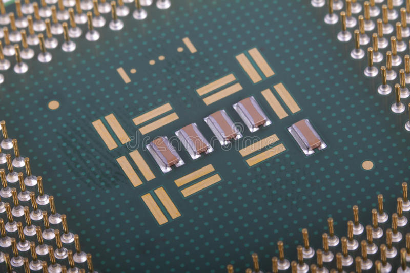Computer chips royalty free stock photos