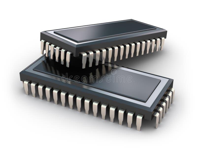 Computer-Chips getrennt lizenzfreie abbildung