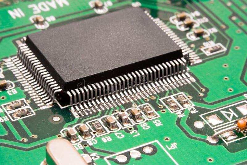 Computer Circuit – Processor Macro royalty free stock photo