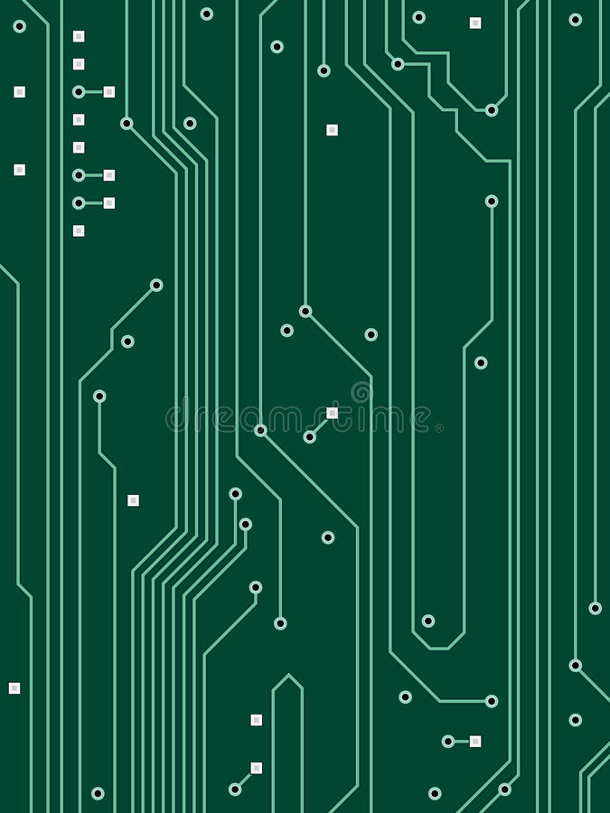 Computer Circuit Background stock illustration