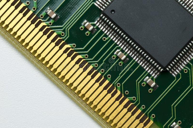 Computer circuit board. On an isdn-card stock image