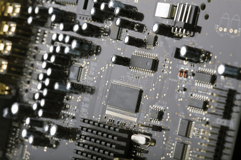 Download Computer Circuit Board With Electronics Components Stock Photo - Image: 7842798