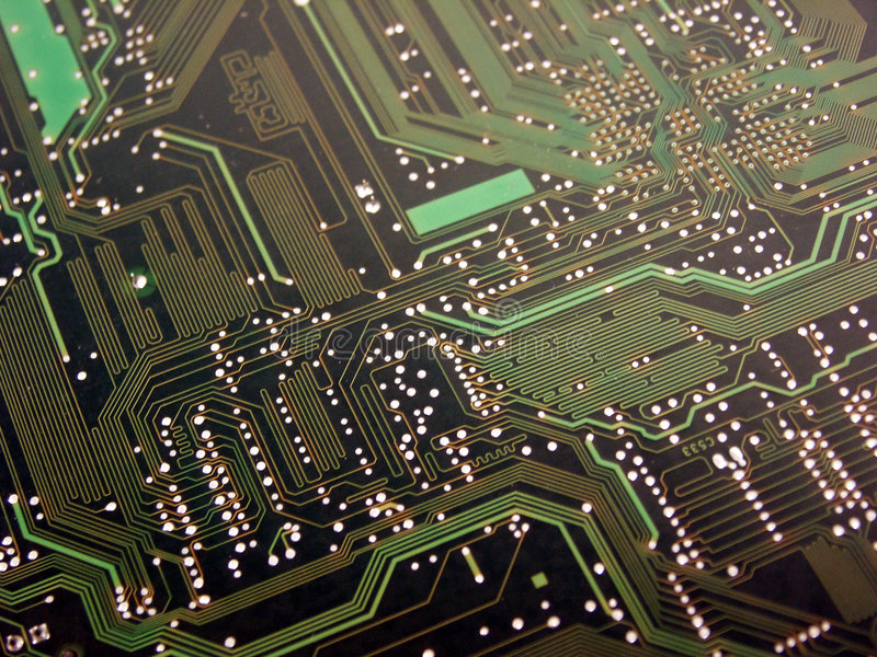 Computer Circuit Board Green royalty free stock photography