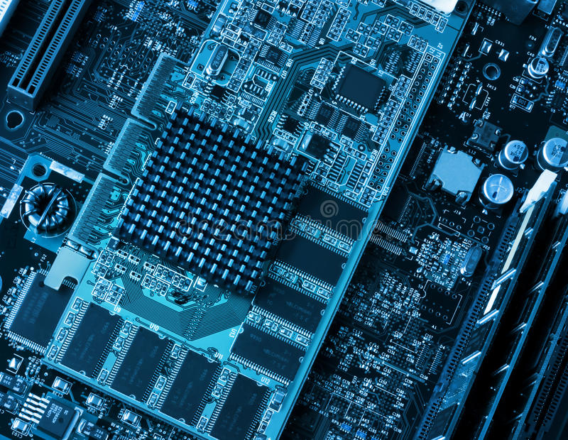 Download Computer Circuit Board And Processors Stock Photo - Image: 26064426