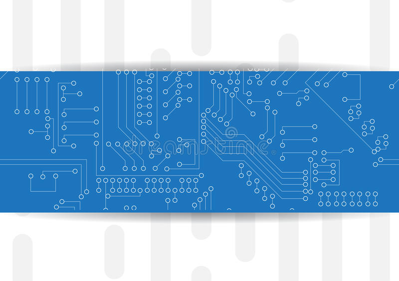Computer Circuit Board. Technology solution. For project royalty free illustration