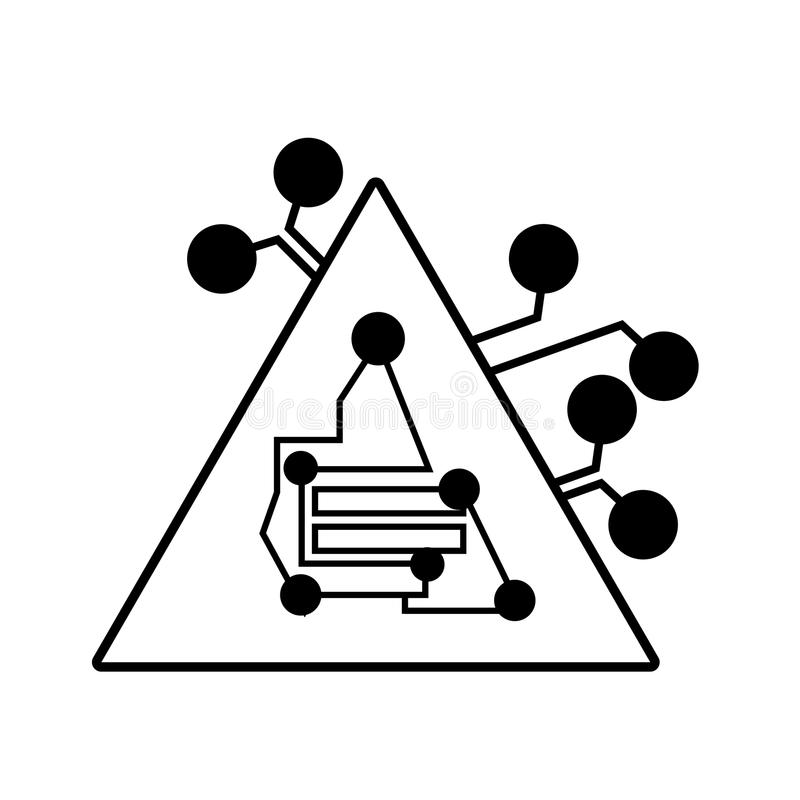 3d Design Using Home Designer Chief Architect Multi Level: Binary Pyramid Stock Illustration. Illustration Of