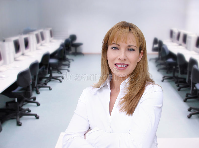 Download Computer class stock photo. Image of computers, businesswoman - 80248