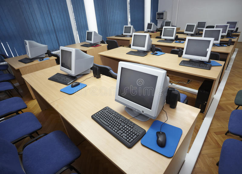 Download Computer classroom 1 stock image. Image of communication - 12247727