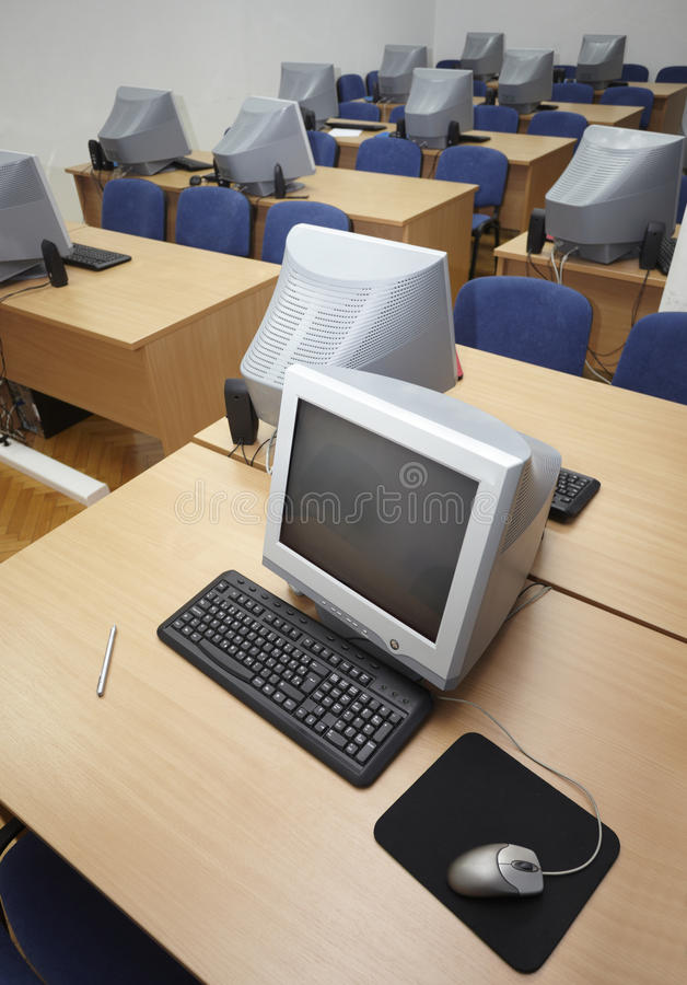 Computer Classroom 1 Royalty Free Stock Image