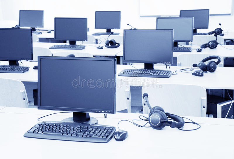 Computer classroom royalty free stock photo