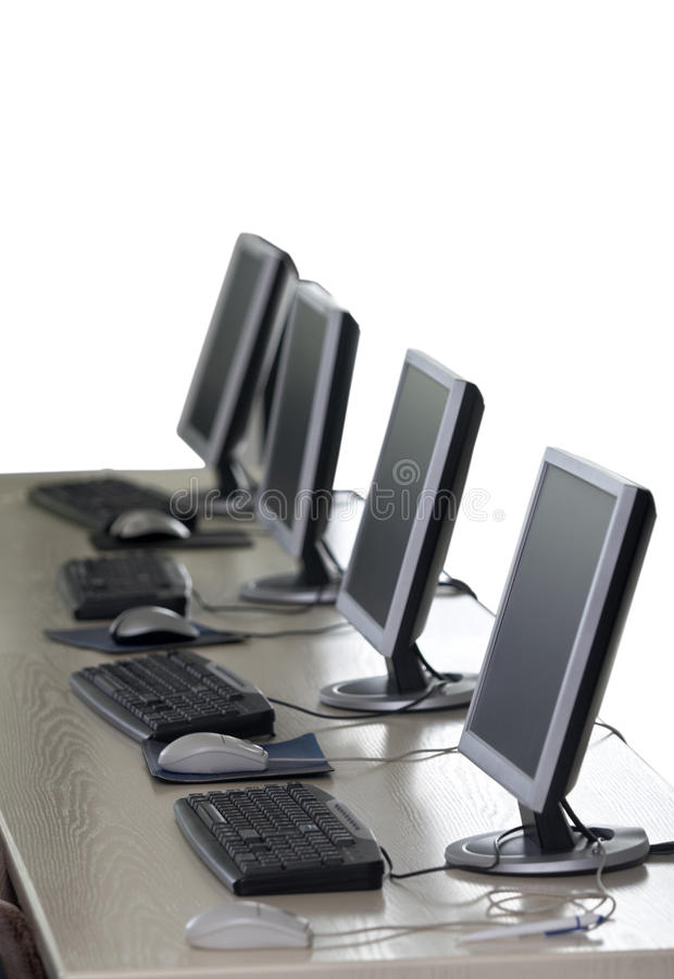 Download Computer classroom 7 stock image. Image of desk, high - 11231689