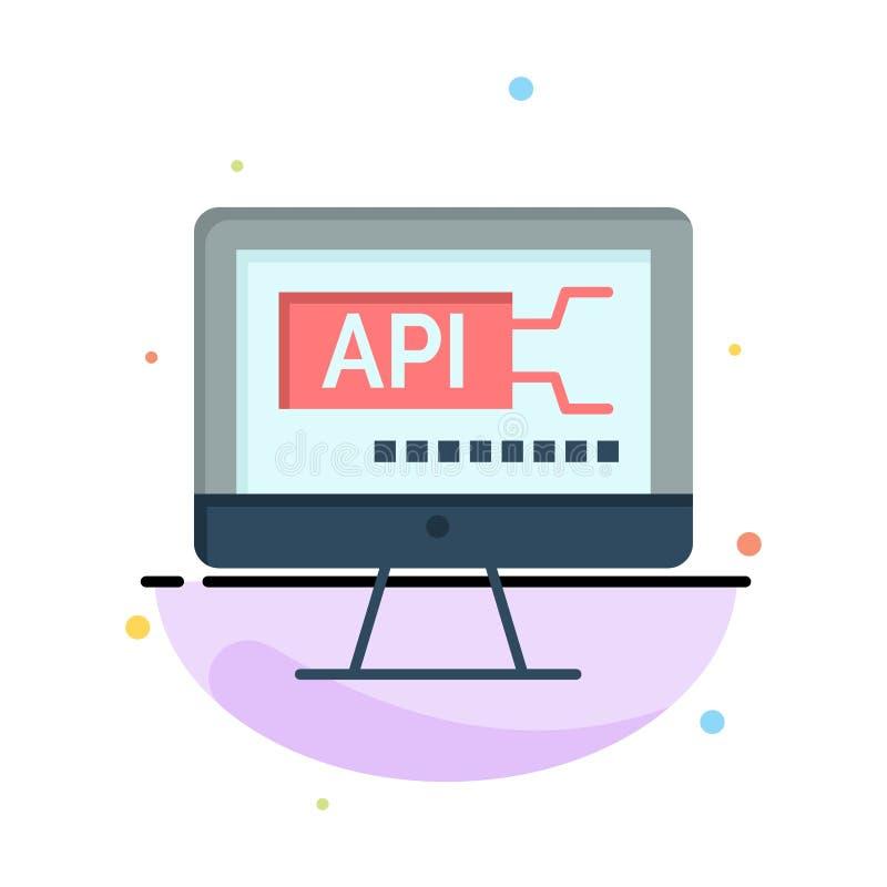 Computer, Code, Codage, het Pictogrammalplaatje van de Onderwijs Abstract Vlak Kleur vector illustratie
