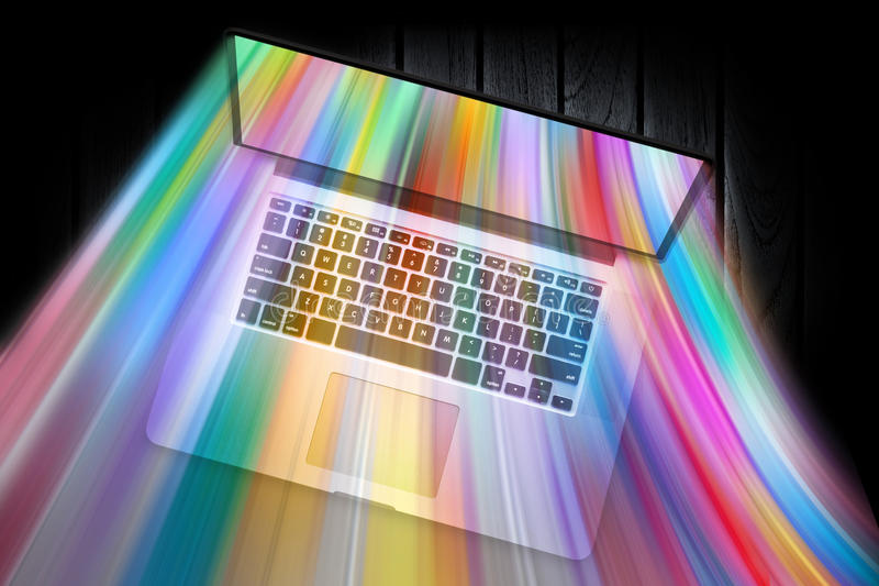 Computer Colorful Technology stock photography