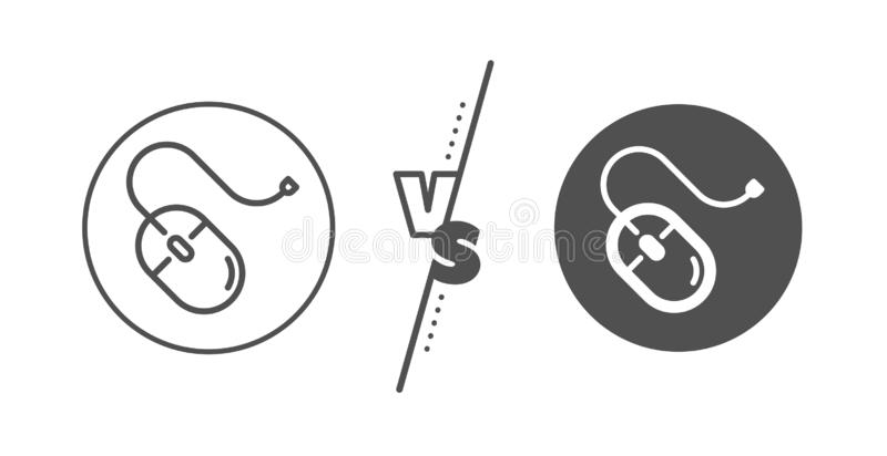 Mouse line icon. Computer component device sign. Vector stock illustration