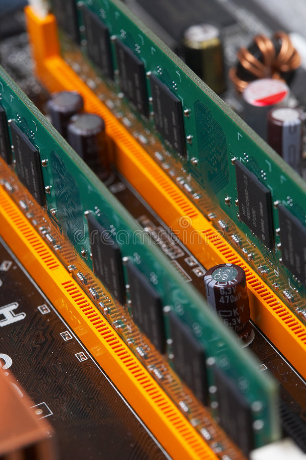Computer components royalty free stock photo