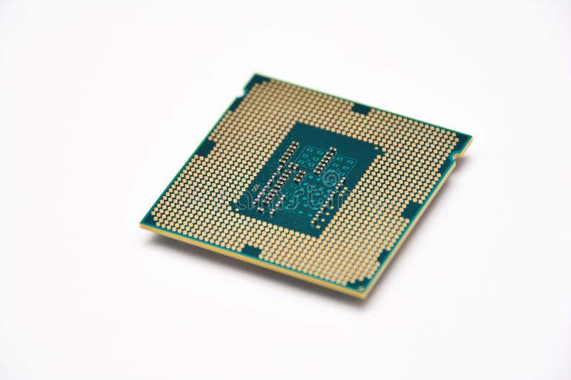 Computer components, CPU. CPU close up, isolated stock image