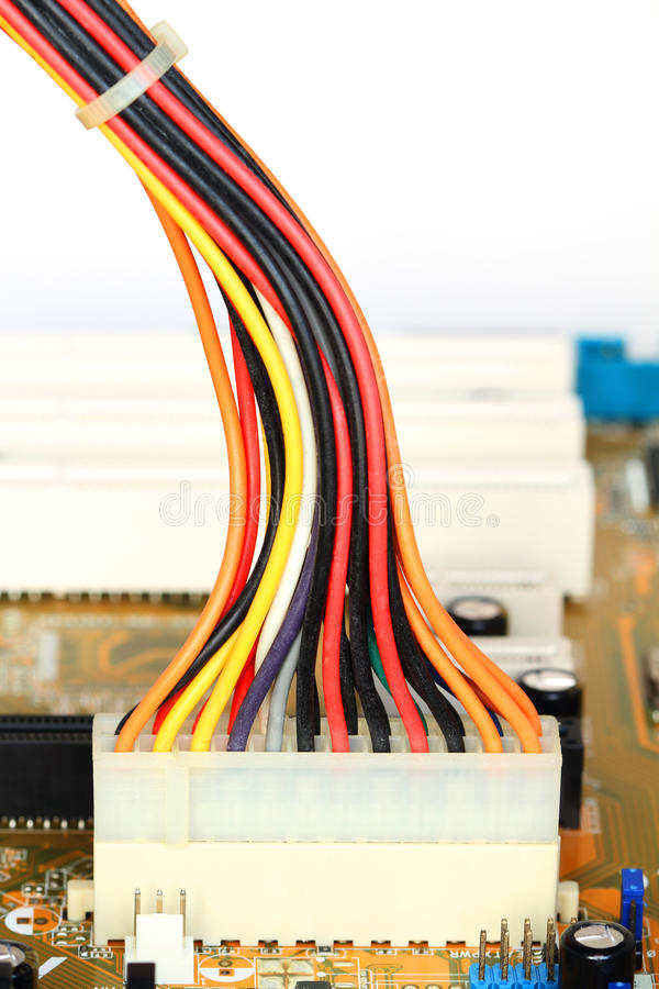 Download Computer connection wires stock photo. Image of data - 22550858