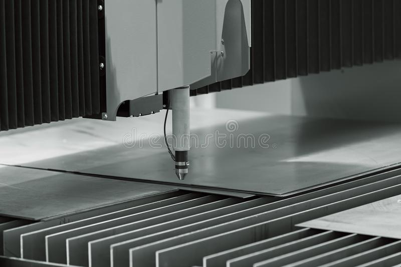 Computer controlled milling machine. Detail of computer controlled milling machine for metalworking royalty free stock images