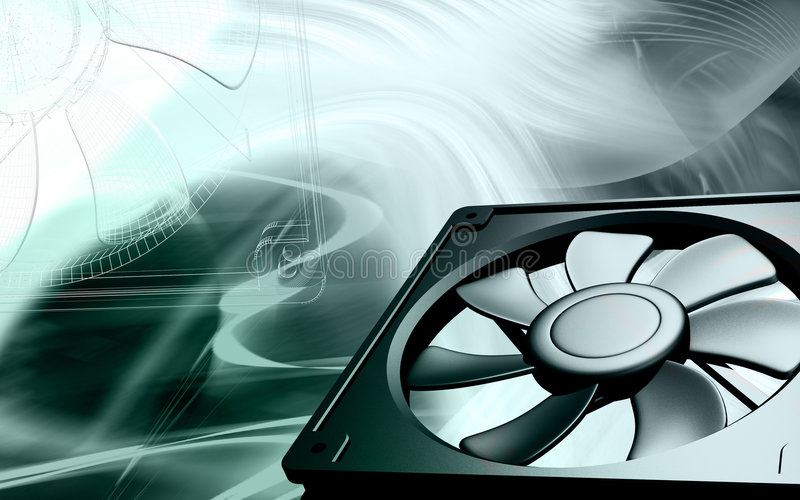 Download Computer cooling fan stock illustration. Image of cold - 6995746