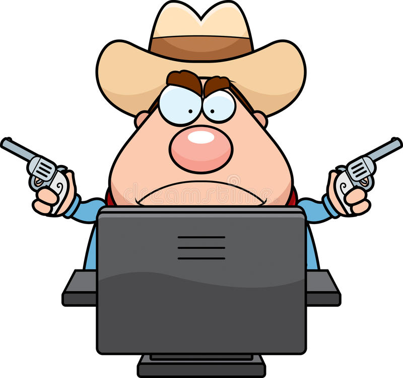 Computer-Cowboy stock abbildung