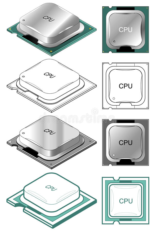 Download Computer CPU Royalty Free Stock Photography - Image: 10757437