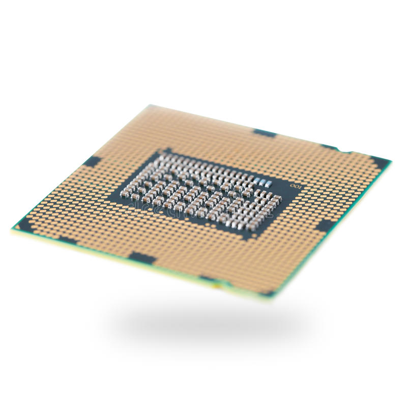 Computer CPU. Central processing unit - CPU chip royalty free stock photography