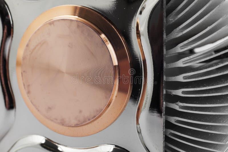 Computer cpu cooler close up stock image