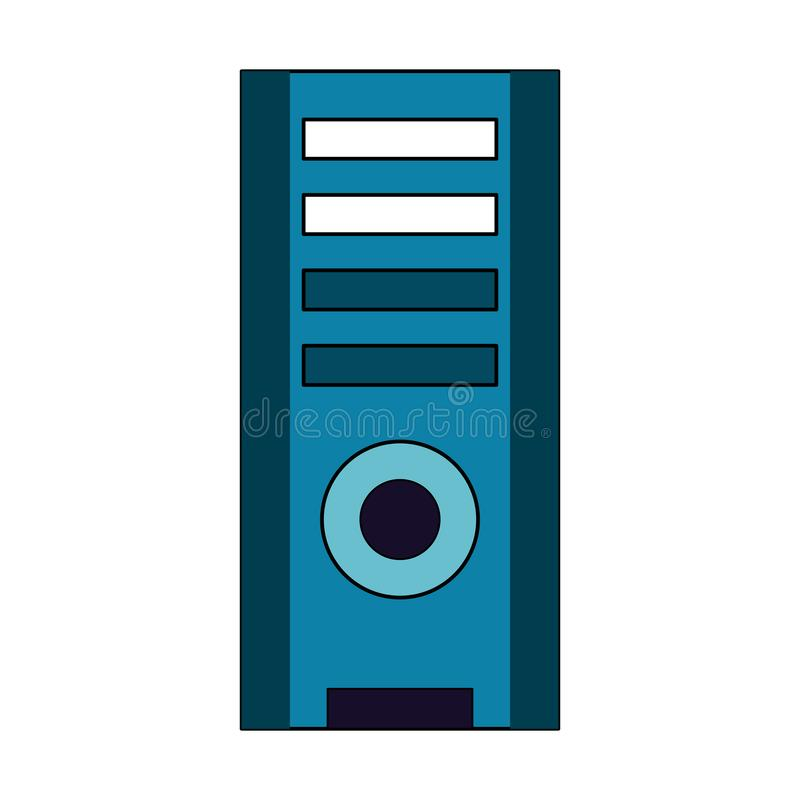 Computer cpu tower. Vector illustration graphic design royalty free illustration